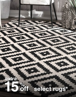 Extra 15% off Select Rugs*