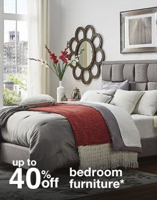 Up to 40% off bedroom furniture*